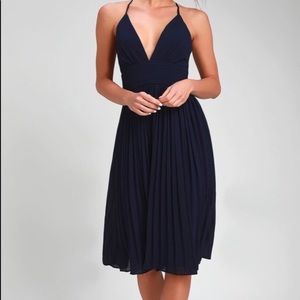 "Lulu's ""Love Me to the Moon Pleated Mini Dress"""